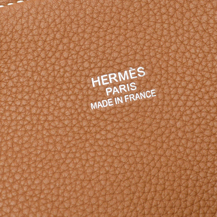 HERMES BOLIDE RELAX 45 Travel Hand Bag Brown Togo