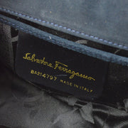 SALVATORE FERRAGAMO Gancini Shoulder Bag Navy