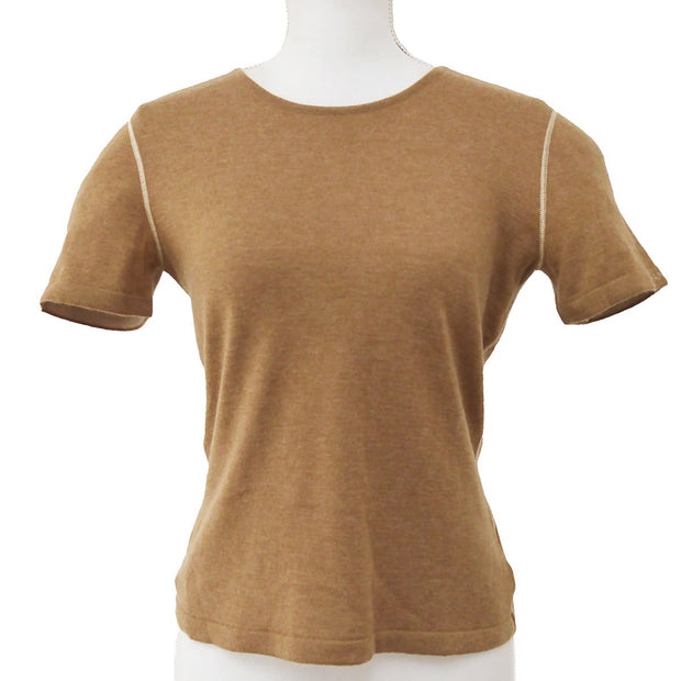CHANEL 99A #38 T-shirt Tops Brown