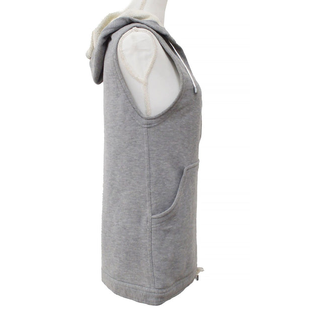 CHANEL 05P #34 Sport Line Sleeveless Hooded Sweatshirt Gray