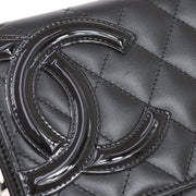CHANEL Woc Cambon Line Chain Shoulder Bag Wallet Black