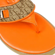 Christian Dior Trotter Sandals Shoes Orange #36