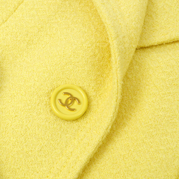 CHANEL 97P #36 Single Breasted Jacket Yellow