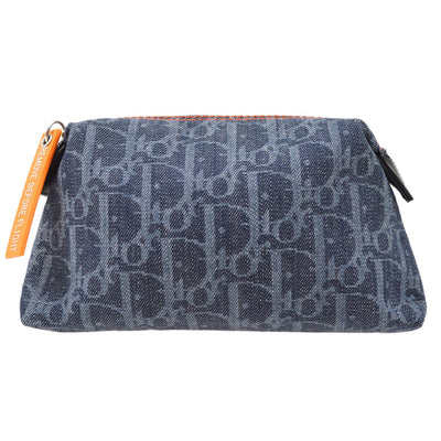 Christian Dior Flight Trotter Cosmetic Bag Pouch Navy