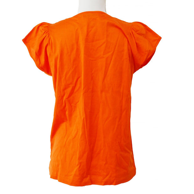 Yves Saint Laurent Short Sleeve T-Shirt Orange #M