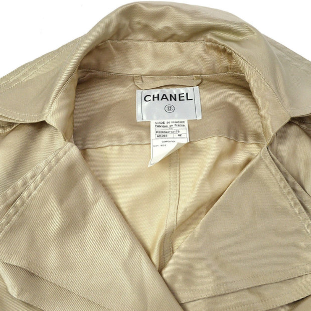 CHANEL 04C #42 Double Breasted Coat Jacket Gold