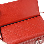Christian Dior Lady Dior Cannage Hand Bag Red