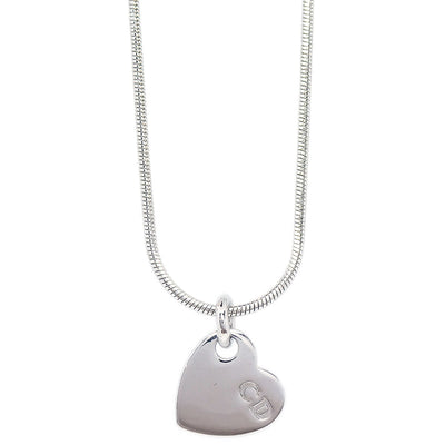 Christian Dior Heart Silver Chain Necklace