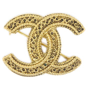 CHANEL Brooch Pin Corsage Gold 1102