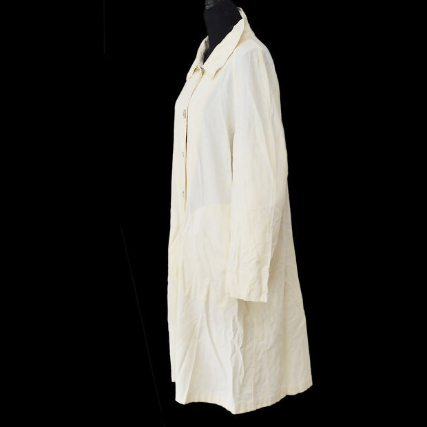 CHANEL 99P #36 Long Sleeve Coat Jacket Ivory