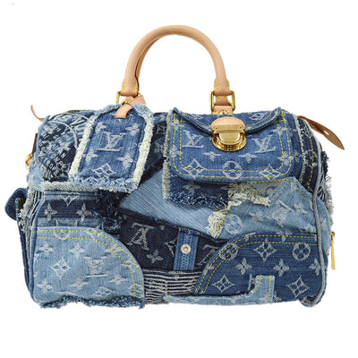 LOUIS VUITTON SPEEDY 30 HAND BAG MONOGRAM DENIM PATCHWORK M95380