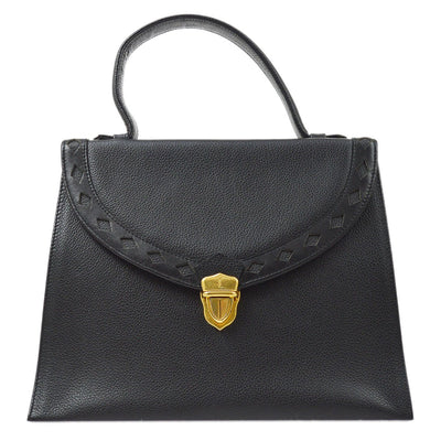 YVES SAINT LAURENT 2way Hand Bag Black