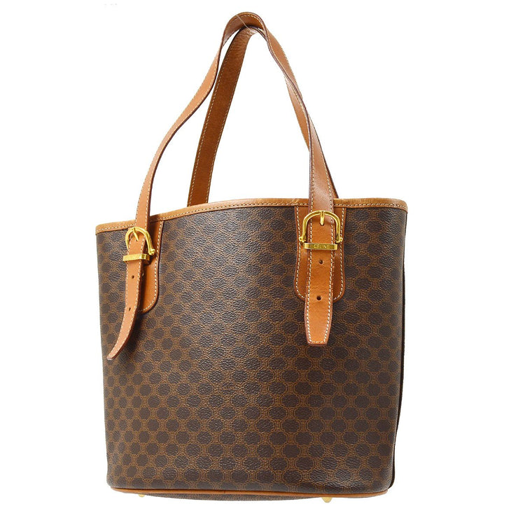 CELINE Macadam Hand Tote Bag Brown
