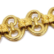 CHANEL Bell Gold Chain Bracelet 94A