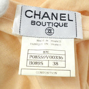 CHANEL 97C #38 T-shirt Tops Orange
