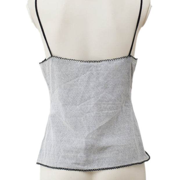 CHANEL 04P #40 Camisole Tops Gray