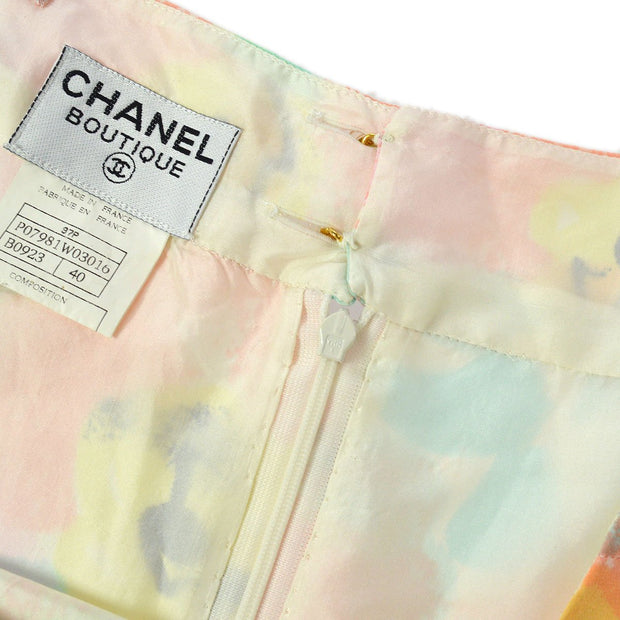 CHANEL 97P #40 One Piece Camisole Dress Skirt Pink