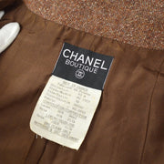 CHANEL 93A #38 Single Breasted Jacket Brown