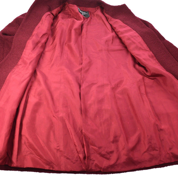 CHANEL Front Opening Jacket Bordeaux