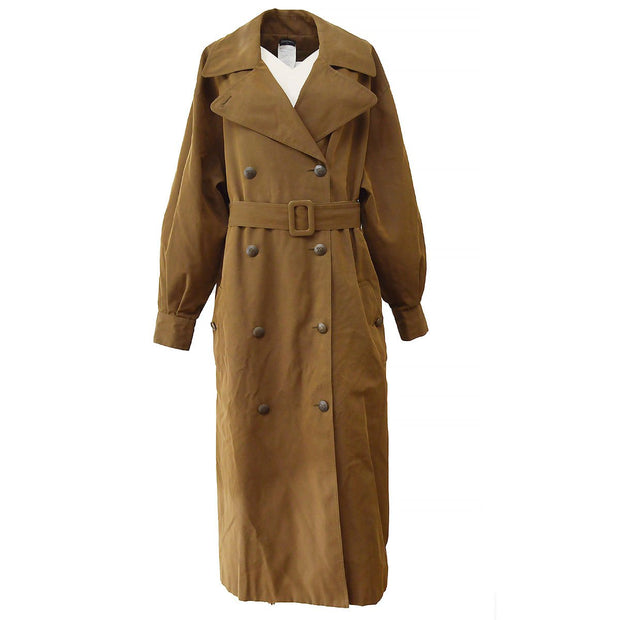 CHANEL 97A #38 Trench Coat Brown