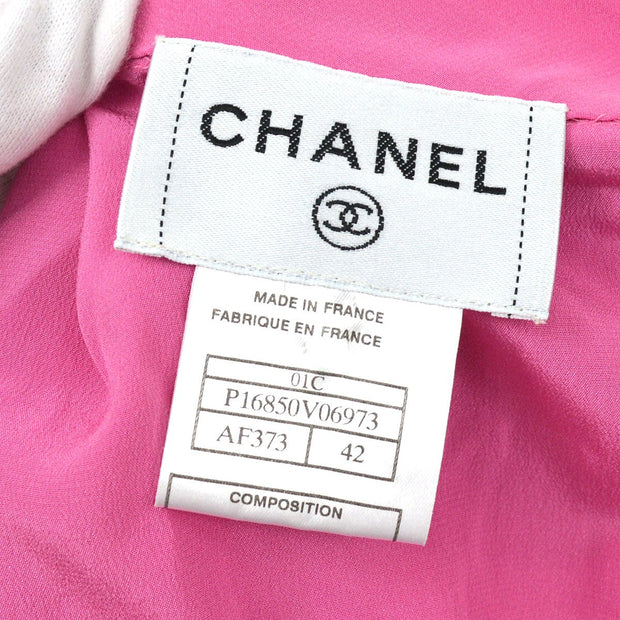 CHANEL 01C #42 One Piece Dress Skirt Pink