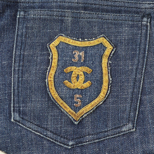 CHANEL 05C #36 Long Denim Pants Indigo