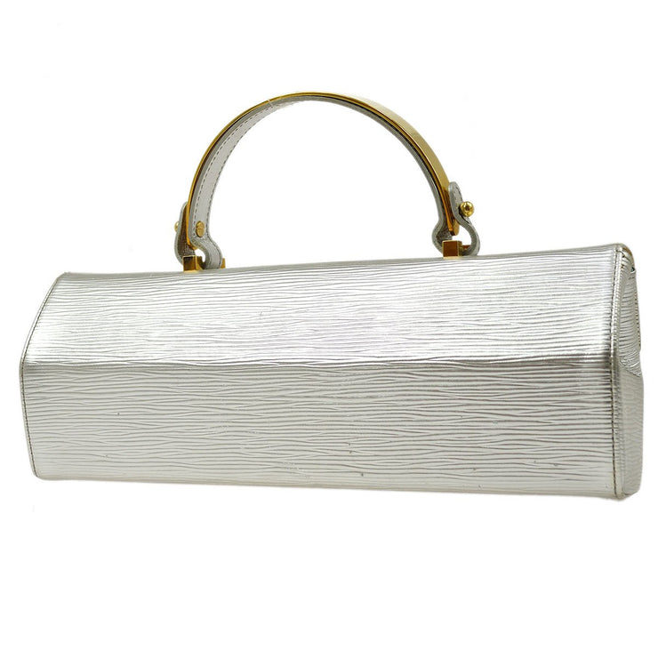 LOUIS VUITTON GALAXIA HAND BAG SILVER EPI METAL M92183