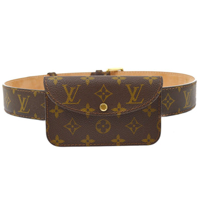 LOUIS VUITTON CEINTURE POCHETTE BELT BUM BAG MONOGRAM #36/90 M6933U