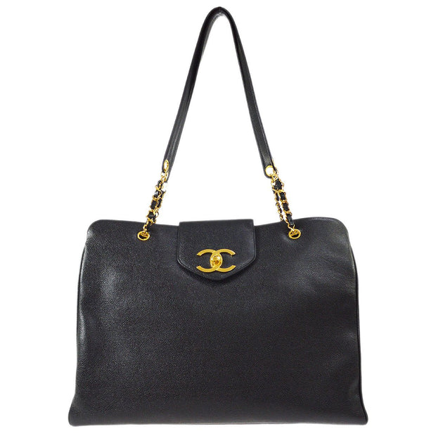 CHANEL SUPER MODEL Chain Shoulder Bag Black Caviar