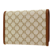 CELINE Macadam Pattern Coin Purse Wallet Beige