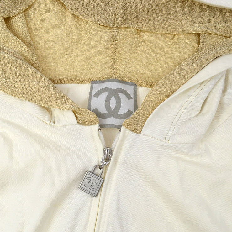 CHANEL 06P #50 Sport Line Setup Tops Pants White