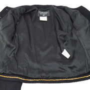 CHANEL 95A #36 Set Up Jacket Skirt Black