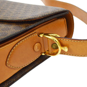 CELINE Macadam Horse Carriage Shoulder Bag Brown