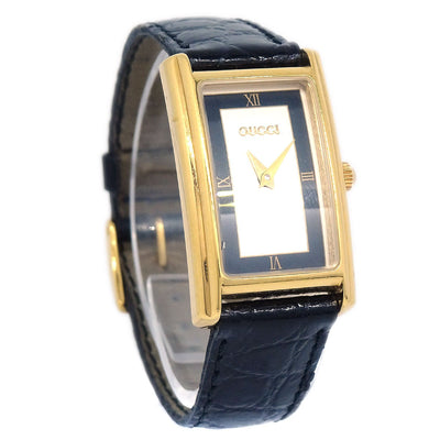 GUCCI 2600L Quartz Watch Gold Black