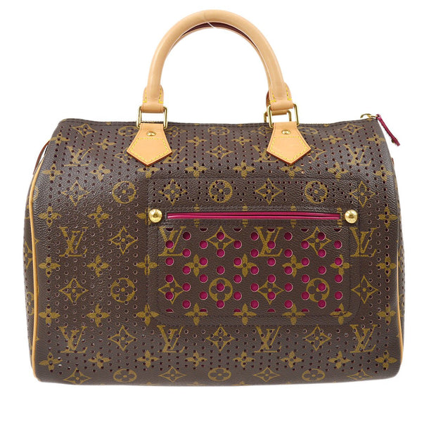 LOUIS VUITTON SPEEDY 30 HAND BAG MONOGRAM PERFO FUCHSIA M95180