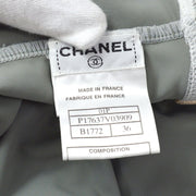 CHANEL 01P #36 Sport Line Swimwear Swimsuit Gray White