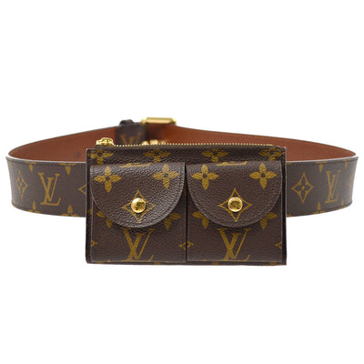 LOUIS VUITTON CEINTURE POCHETTE DUO WAIST BUM BAG MONOGRAM M9836