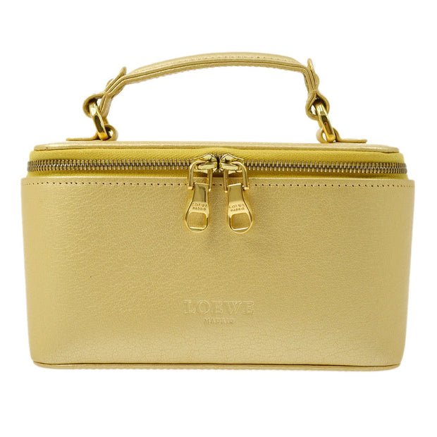 LOEWE Cosmetic Vanity Mini Hand Bag Gold