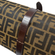 FENDI Zucca Clutch Bag Brown
