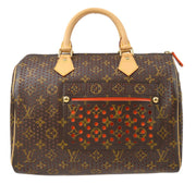 LOUIS VUITTON SPEEDY 30 HAND BAG ORANGE MONOGRAM PERFO M95182