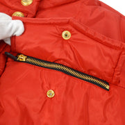 CHANEL Down Jacket Sports Line Long Sleeve Red #38