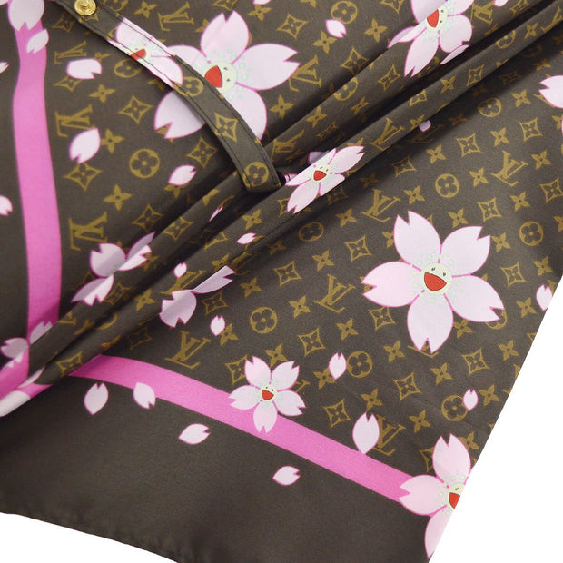 LOUIS VUITTON Monogram Cherry Blossom Umbrella Brown M92030