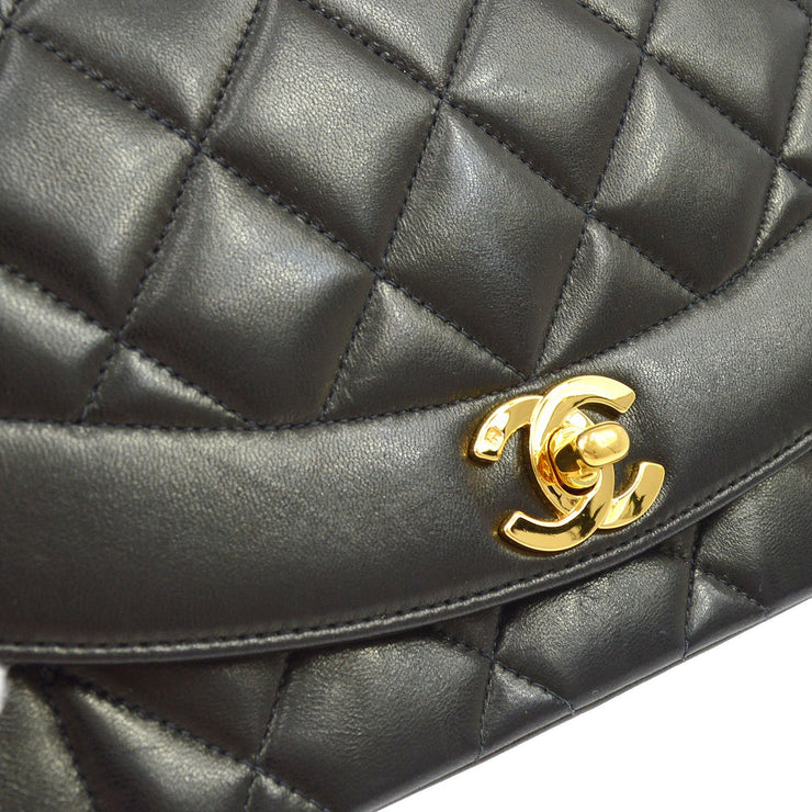 CHANEL Small DIANA Chain Shoulder Bag Black