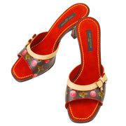 LOUIS VUITTON Sandals Shoes Monogram Cherry Brown #35