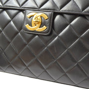 CHANEL Briefcase Business Hand Bag Black
