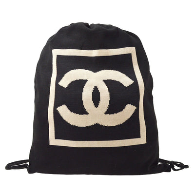 CHANEL Sport Line Backpack Bag Black