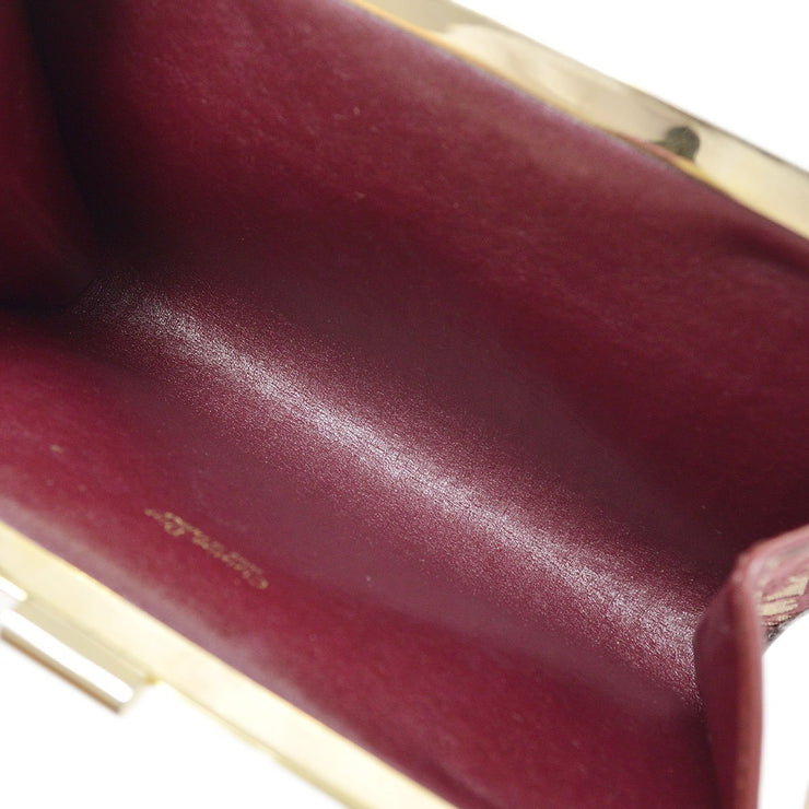 Christian Dior Trotter Clutch Hand Bag Red