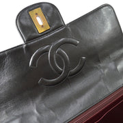 CHANEL Classic Flap Jumbo Tortoiseshell Chain Shoulder Bag Black