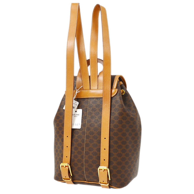 CELINE Macadam Backpack Hand Bag Brown