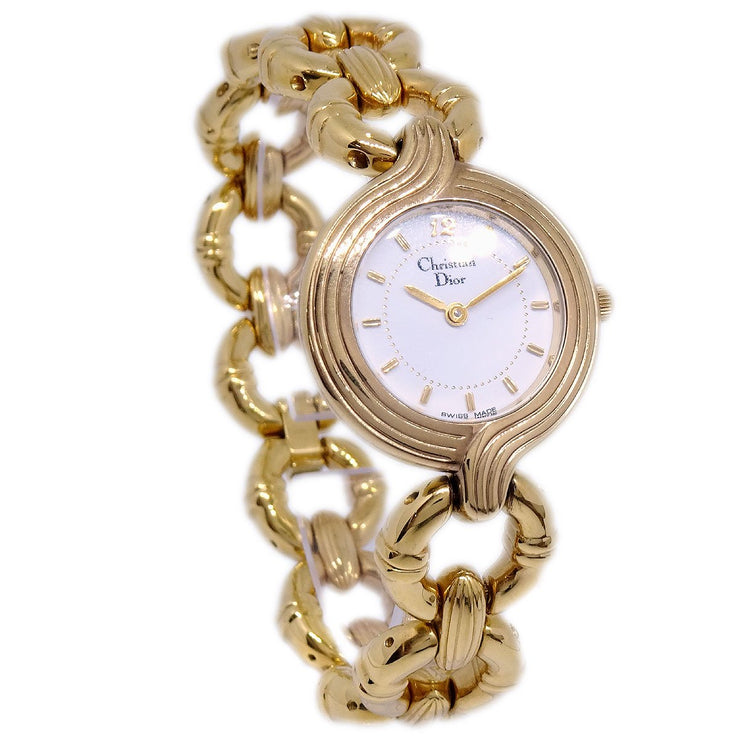 Christian Dior Watch Date Quartz Gold